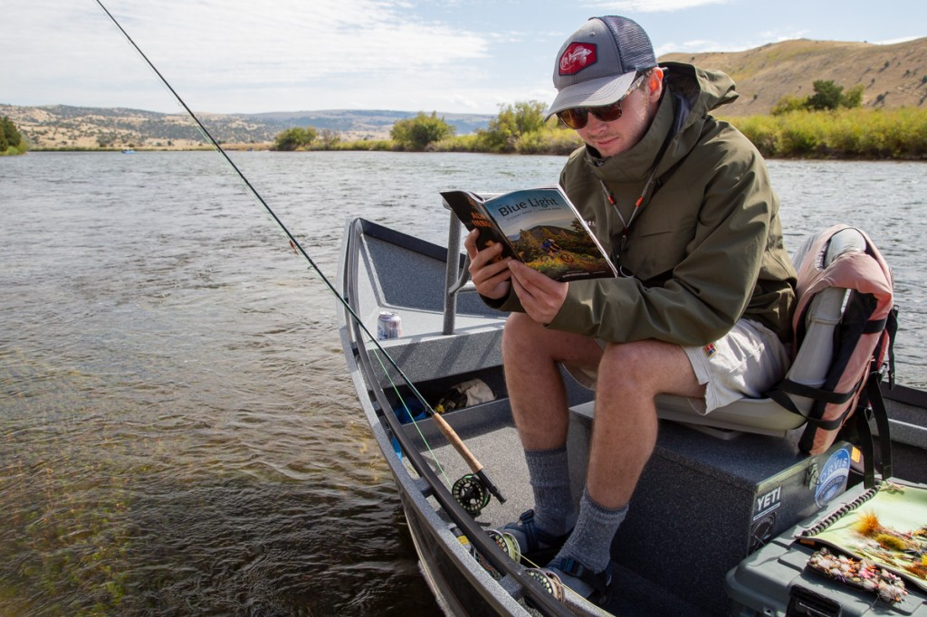 Can't catch a fish? Well, at least you can catch some good reading on the river.